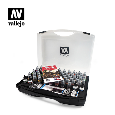 Game Color - Vallejo Case - 72 Paints & 3 brushes - 72.172