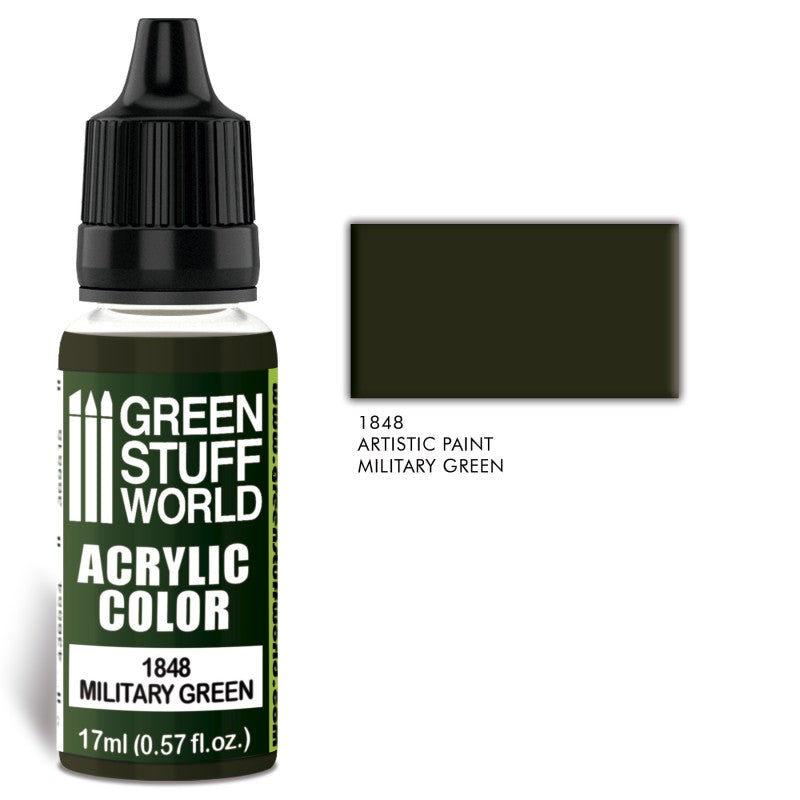MILITARY GREEN-Acrylic Colour -1848- Green Stuff World