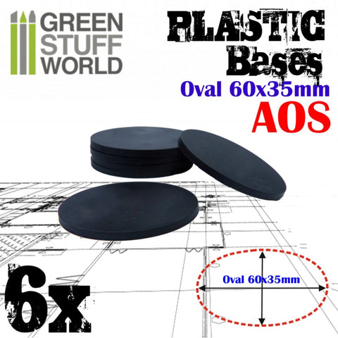 Plastic Bases - Oval Pill 60x35mm -9889- Green Stuff World