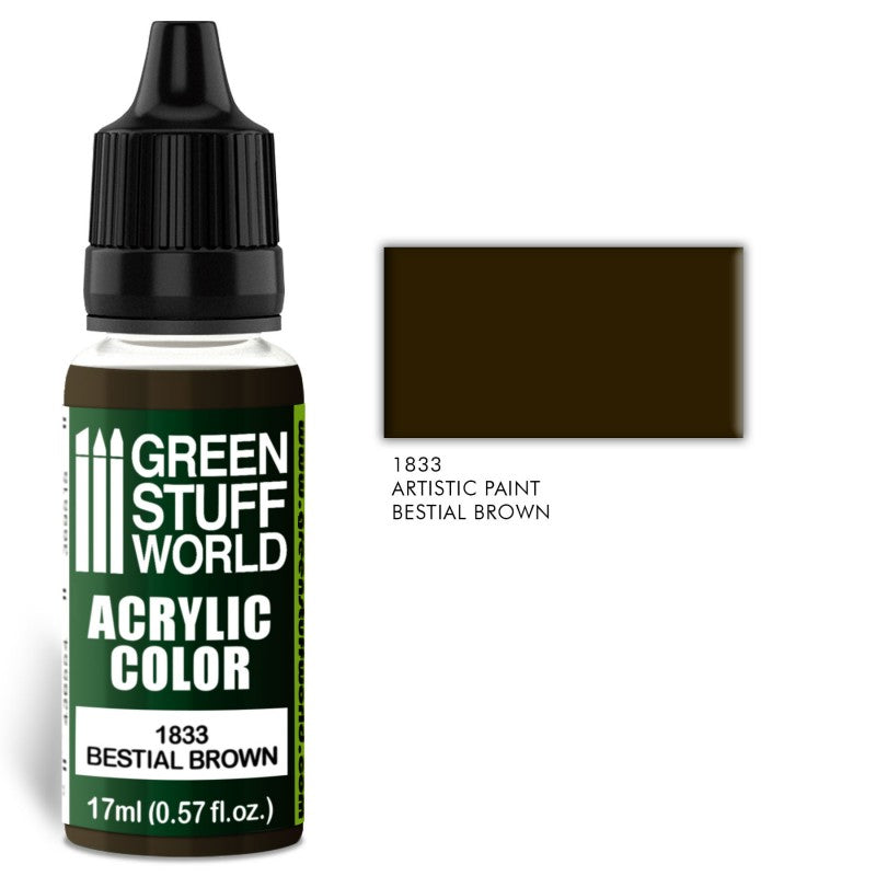 BESTIAL BROWN -Acrylic Colour -1833  Green Stuff World