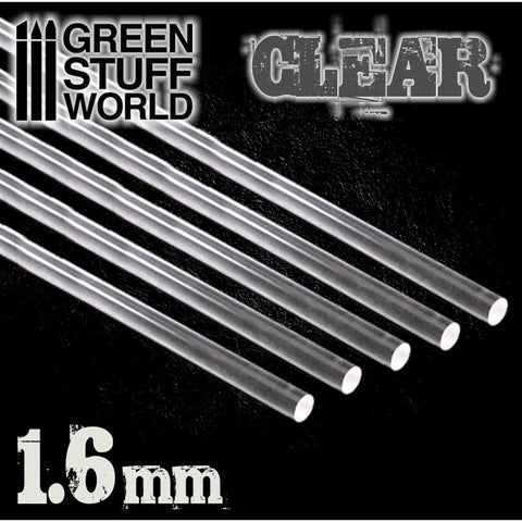 Acrylic Rods - Round 1.6 mm CLEAR- 9856 -Green Stuff World