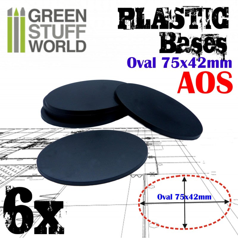Plastic Bases - Oval Pill 75x42mm -9890- Green Stuff World