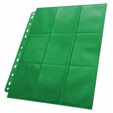 ULTIMATE GUARD 1CT 18-POCKET PAGE SIDE-LOADING - GREEN