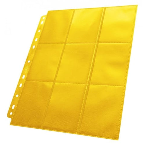 ULTIMATE GUARD 1CT 18-POCKET PAGE SIDE-LOADING - YELLOW
