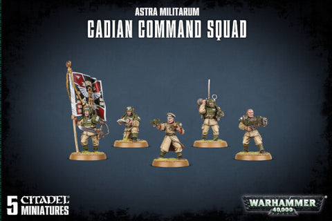 Cadian Command Squad - Astra Militarum (Warhammer 40k) :www.mightylancergames.co.uk