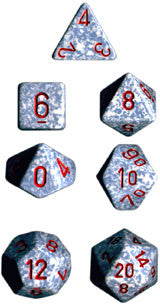 Speckled Poly 7 Dice Set: Air