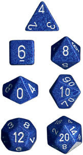 Speckled Poly 7 Dice Set: Water