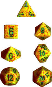 Speckled Poly 7 Dice Set: Lotus