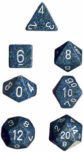 Speckled Poly 7 Dice Set: Sea