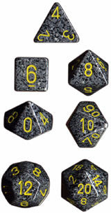 Speckled Poly 7 Dice Set: Urban Camo