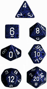 Speckled Poly 7 Dice Set: Stealth