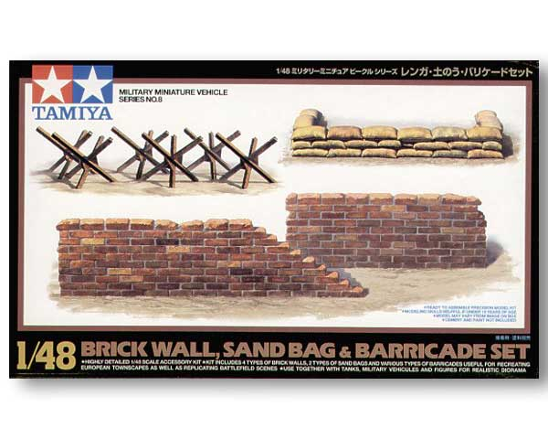 Brick Wall, sand bag & barricade Set - Tamiya (1/48)