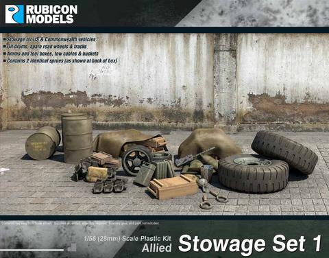 Allies Stowage Set 1 - Rubicon Models 1/56