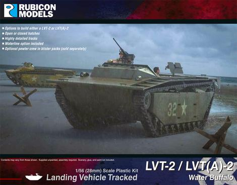 LVT-2 / LVT (A)-2 Water Buffalo - United States (Rubicon 280067) :www.mightylancergames.co.uk