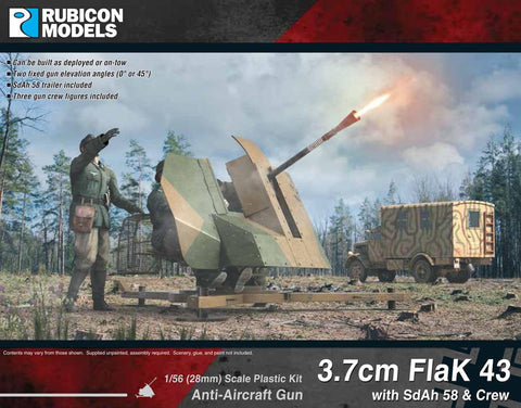 3.7cm Flak 43 with SdAh 58 & Crew: www.mightylancergames.co.uk