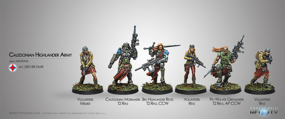 Ariadna: CALEDONIAN HIGHLANDER ARMY ARIADNA SECTORIAL STARTER PACK [0648]