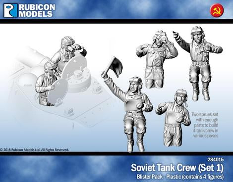 Soviet Tank Crew (Rubicon 284015) :www.mightylancergames.co.uk