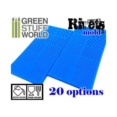 Silicone moulds - Rivets-1420- Green Stuff World