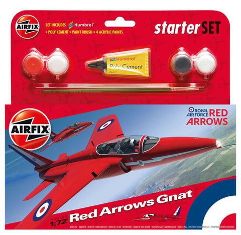 Airfix RAF Red Arrows Gnat Starter Set 1:72