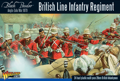 British Line Infantry Regiment - Anglo Zulu War 1879 (Black Powder - Warlord Games) :www.mightylancergames.co.uk