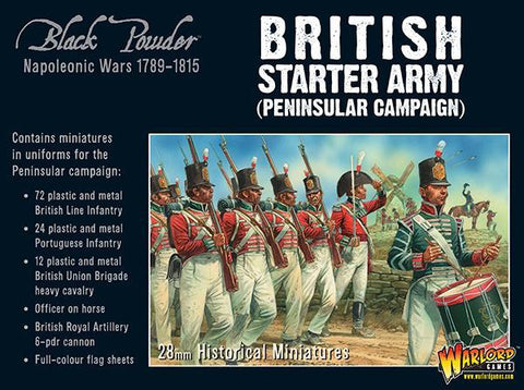 Napoleonic British Starter Army (Peninsular campaign) - Black Powder :www.mightylancergames.co.uk