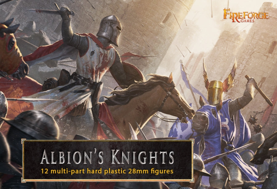 Fireforge Albion Knights plastic kit (12 mounted figures):www.mightylancergames.co.uk