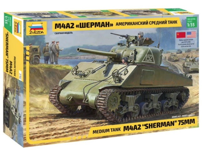 "M4A2 ""Sherman "" 75mm - Zvezda 1/35 :www.mightylancergames.co.uk"