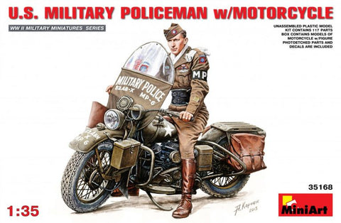Miniart 1/35 - US Millitary Policeman with Motorcycle: www.mightylancergames.co.uk