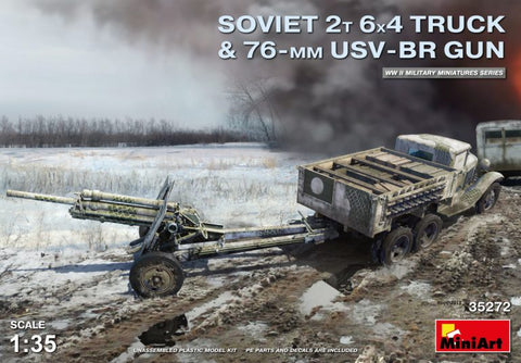 Miniart 1/35 - Soviet 2T 6x4 Truck with 76mm USV-BR Gun: www.mightylancergames.co.uk