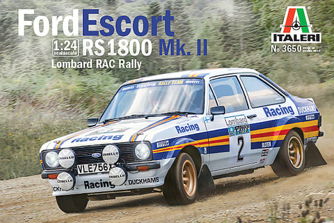 FORD ESCORT RS1800 MKII RAC - Italeri 1/24 Model Kit :www.mightylancergames.co.uk