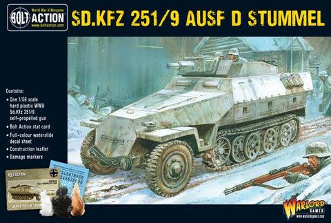 German Sd.Kfz 251/9 Ausf D 'Stummel' 7.5cm SP gun (Bolt Action) :www.mightylancergames.co.uk