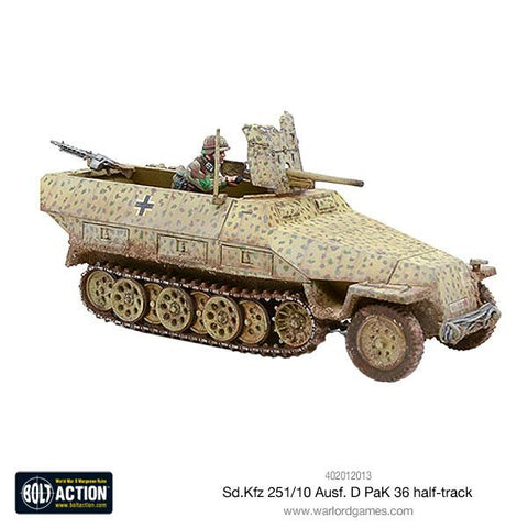 Sd.Kfz 251/10 ausf D (PaK 36) Half-Track  (Bolt Action) :www.mightyalncergames.co.uk