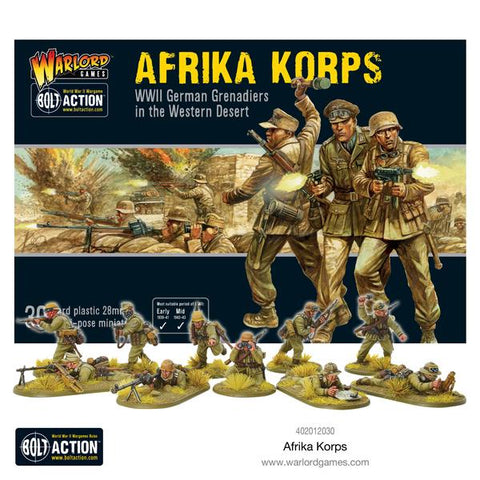 German Afrika Korps - ( Bolt Actions) :www.mightylancergames.co.uk