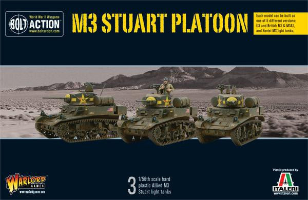 M3 Stuart Platoon Box Set (3 Tanks)