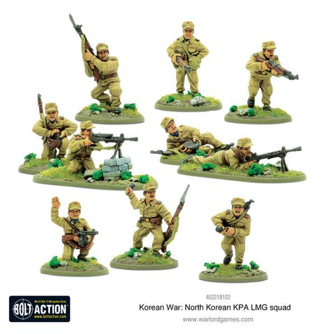 North Korean KPA LMG Squad - Korean War (Bolt Action) :www.mightylancergames.co.uk