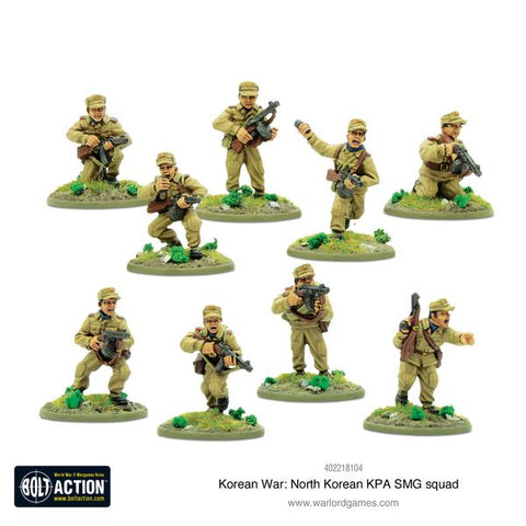 North Korean KPA SMG Squad - Korean War (Bolt Action) :www.mightylancergames.co.uk