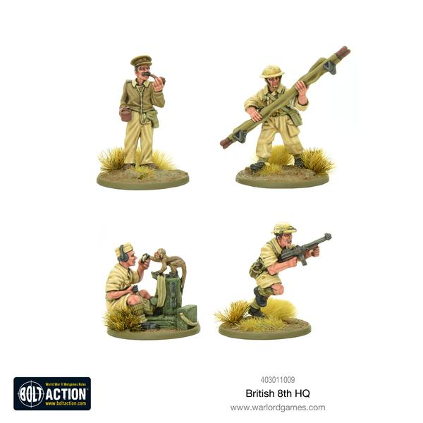 British 8th Army HQ - Bolt Action: www.mightylancergames.co.uk