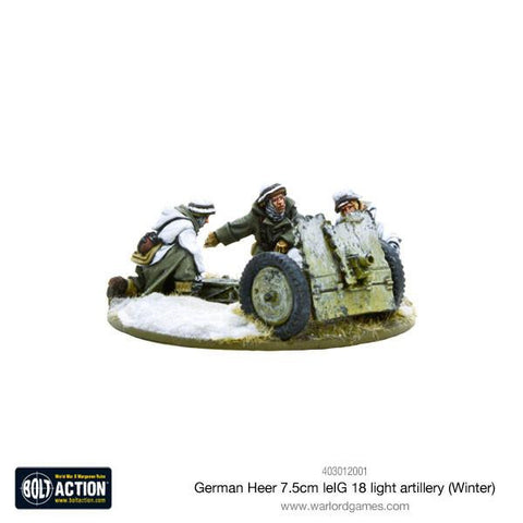 Bolt Action: German Heer 7.5cm leIG 18 light artillery (Winter)