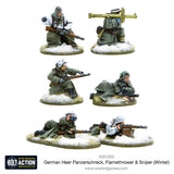 Bolt Action: German Heer Panzerschreck, Flamethrower & Sniper teams (Winter)