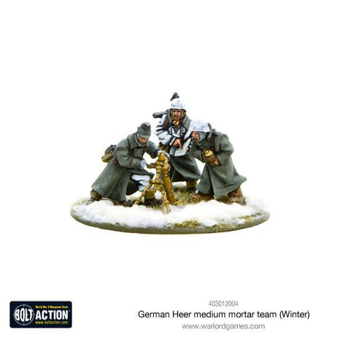 Bolt Action: German Heer Medium Mortar team (Winter)