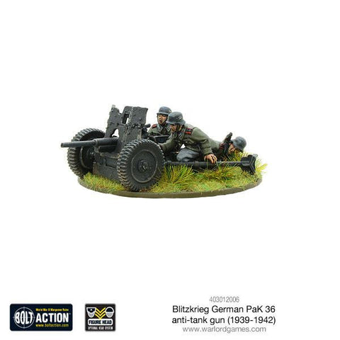 Bolt Action: German Blitzkrieg Pak 36 anti-tank gun