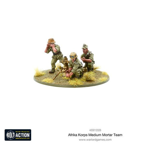 German Afrika Korps Medium Mortar Team (Bolt Action) :www.mightylancergames.co.uk