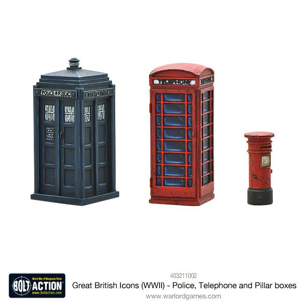 Bolt Action: British: Great British Icons (WWII) - Police, Telephone and Pillar boxes
