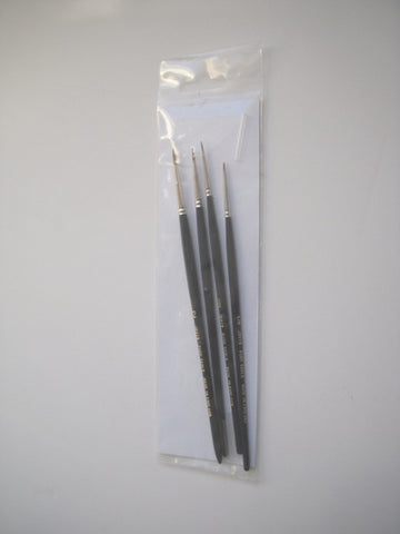 JAVIS SABLE BRUSH SET 5/0,3/0,0 & 2