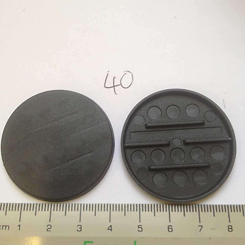 Miniature Bases: 40mm Round Bases (20 bases per blister) [RB40]