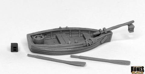 44032: DREADMERE FISHING BOAT (Bones Black) reaper miniatures