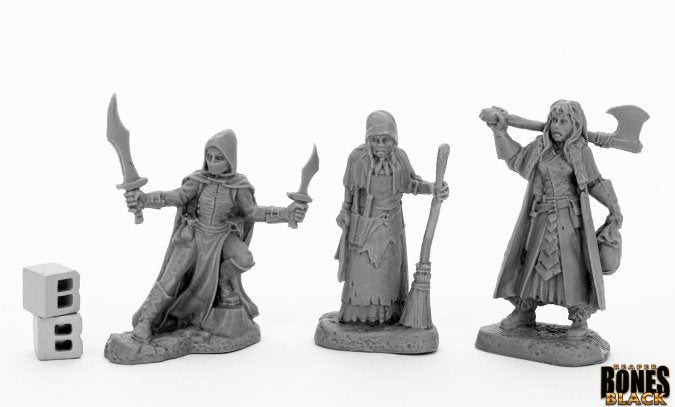 44036: WOMEN OF DREADMERE (3) reaper bones black