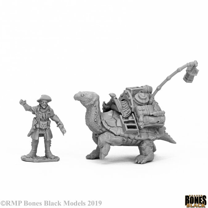44053 Dreadmere Tortoise & Drayman Reaper Bones Black- mighty lancer games