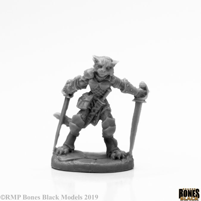 44118 Shadoweyes, Catfolk Rogue (Bones Black) :www.mightylancergames.co.uk
