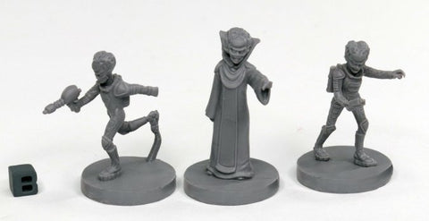 49001: ALIEN OVERLORDS (3) (Bones Black) reaper miniatures